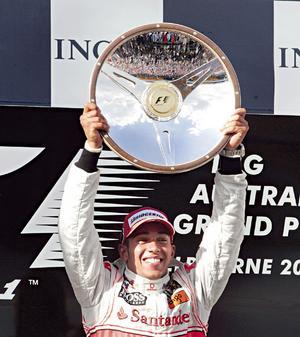 Lewis Hamilton Australia 2008