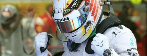 Hamilton celebra su cuarta pole/ lainformacion.com