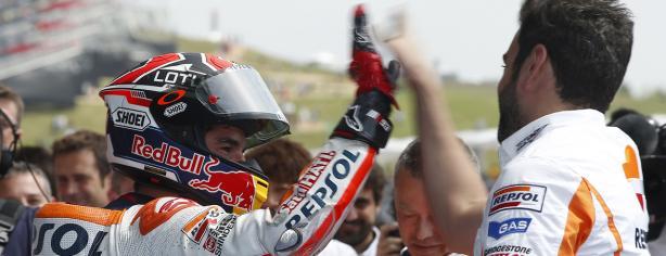Marc Márquez en el circuito de Termas de Rio Hondo