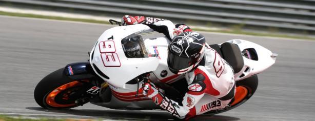 Marc Márquez con la MotoGP del equipo Honda