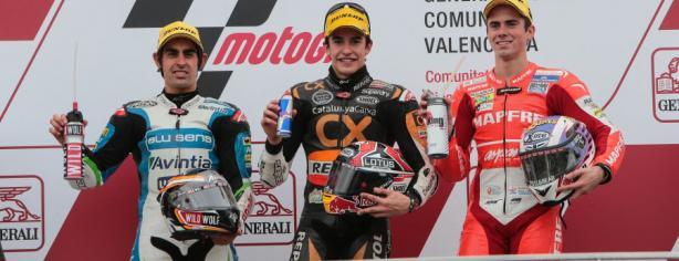 Podio de Moto2 en Valencia