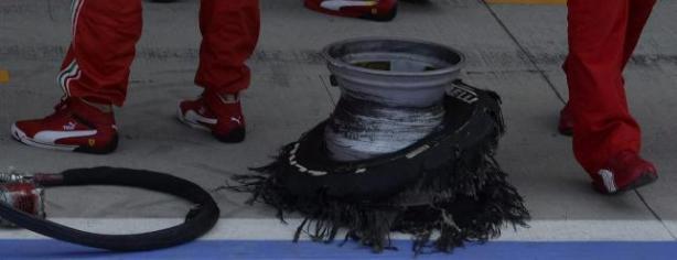Los Pirelli sufrieron mucho en Silverstone/ lainformacion.com