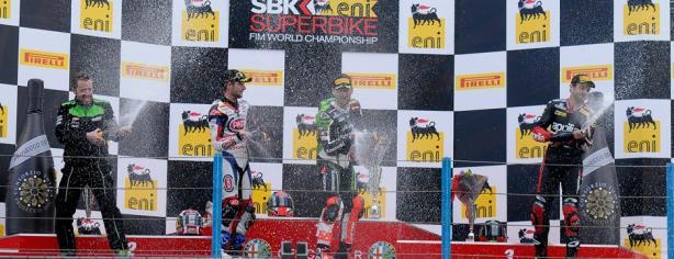 Podio de la primera carrera de Superbikes en Assen/ worldsbk