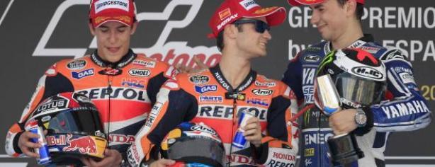 Podio de MotoGP en Jerez/ lainformacion.com