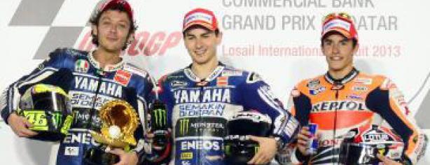 Lorenzo, Rossi y Márquez en el podio de Qatar/ lainformacion