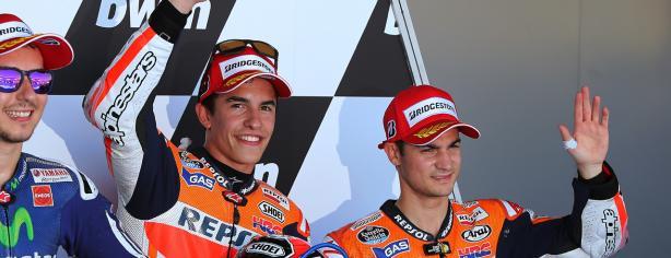 Márquez, Lorenzo y Pedrosa en Jerez
