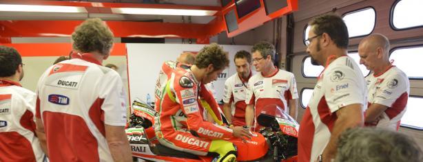 Rossi durante el test de Mugello/ Ducati