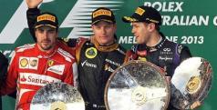 Fernando Alonso en el podio de Melbourne/ lainformacion.com/ EFE