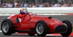 Fernando Alonso en el Ferrari 375 F1