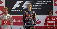 Podio del GP de Italia/ lainformacion.com/ EFE