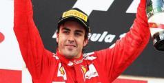 Fernando Alonso en el Podio/ lainformacion.com