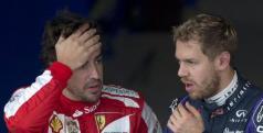 Vettel y Alonso tras la clasificación de Brasil/ lainformacion.com