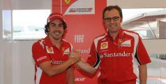 Fernando Alonso y Stefano Domenicali