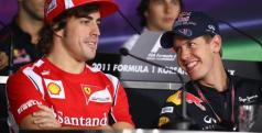 Fernando Alonso y Sebastian Vettel/ lainformacion.com/ Getty Images