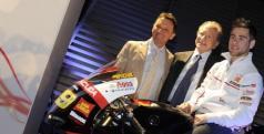 Álvaro Bautista en su MotoGp durante la presentación