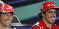 Jenson Button y Fernando Alonso/ lainformacion.com