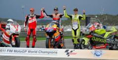 Campeones de las tres categorías en 2011/ lainformacion.com/ Getty Images