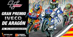 Cartel del GP de Aragón 2012