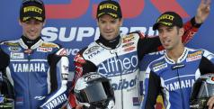 Checa, Laverty y Melandri