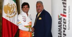 Sergio Pérez y Vijay Mallya/ Force India
