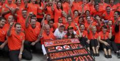 Jenson Button celebra su GP 200
