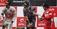 Podio del GP de India