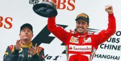 Alonso en el podio del GP de China/ lainformacion.com/ EFE