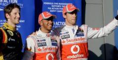 Lewis Hamilton, Jenson Button y Roamin Grosjean/ lainformacion.com/ EFE