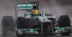 Lewis Hamilton en Montmeló esta mañana/ lainformacion.com/ EFE