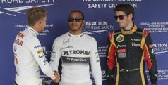 Hamilton, Vettel y Grosjean en Hungría/ lainformacion.com