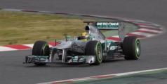 Lewis Hamilton durante los test de pretemporada 2013/ lainformacion.com