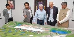 Responsables de la F1 con el proyecto del GP de India
