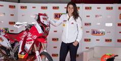 Laia Sanz con su Gas Gas del equipo KH7