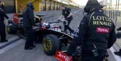 Kimi Raikkonen en su segundo día de test/ Twitter Lotus F1 Team