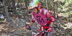 Laia Sanz durante el GP de Andorra de Trial