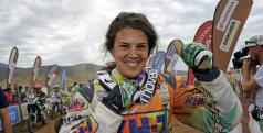 Laia Sanz a su llegada a meta