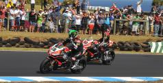 Laverty y Guintoli tras la Race 2/ WorldSBK