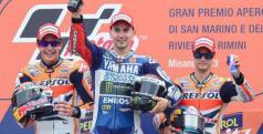Lorenzo, Márquez y Pedrosa en el podio de San Marino/ lainformacion.com