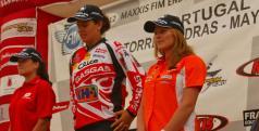 Laia Sanz en el podio final