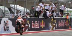Márquez celebra su última victoria