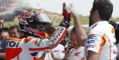 Márquez celebra su segunda pole