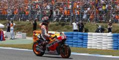 Marc Márquez celebra su victoria en Jerez
