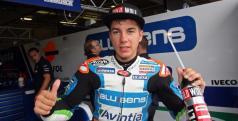 Maverick Viñales tras conseguir la pole en Brno