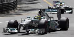 Los Mercedes en Mónaco el pasado domingo/ lainformacion.com