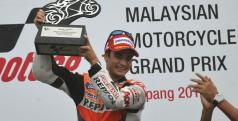 Dani Pedrosa celebra su triunfo en Malasia