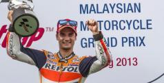 Pedrosa celebra su victoria en Malasia/ lainformacion.com