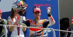 Dani Pedrosa celebra su podio en Mugello/ lainformacion.com