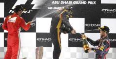Podio de Abu Dhabi/ lainformacion.com