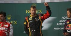 Raikkonen/ ALonso y Vettel en Albert Park/ lainformacion.com