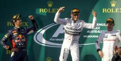 Celebración del podio en Australia/ lainformacion.com